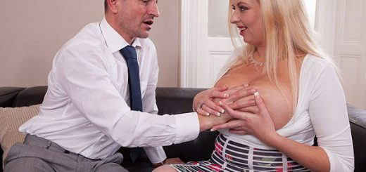 Anal Angel British honey Angel Sweets phones a company about their line of skin creams. She asks if a salesman can come over and demonstrate their products. They send George over to big-chested Angel's flat. George is their best man at servicing female...