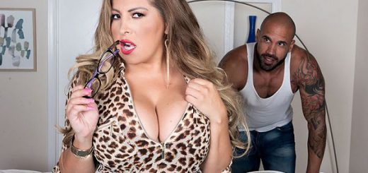 Busty & Lusty It's Carlos Rios' lucky day and he knows it. Big-boobed Alessandra Miller strolls by him on the street where he's doing some construction work. Cupid's arrow hits him right in the shorts because this girl is smokin' hot.   He must meet he...