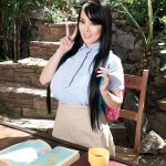 Schoolgirl Hitomi Takes A Study Break For Boobs Hitomi is walking home from class and stops at a secluded, wooded area where she can study outdoors. There are no big, bad wolves around to lick their chops at the sight of her. She drops her book bag and...