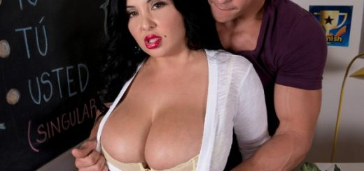 That Busty, Lusty Spanish Teacher Who better to teach Spanish than this sexy damsel? Miss Daylene Rio, SCORE Girl and part-time Spanish-language instructor in an adult education class, is trying to tutor a guy who has other things on his mind. These th...