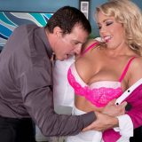 DDD-Cup Corporate Spy Is Caught & Boned Amber Lynn Bach is a big-titted secret agent for a rival company. She's doing very bad things. Everyone is too busy gawking at her big boobs and sexy legs to notice any suspicious behavior. The distraction techni...