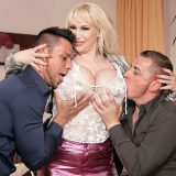 Super SeXXXStar As soon as Sandra Star sits on the bed and adjusts her dress, Steve and Angelo rush over to tackle Sandra and her titanic twin tatas. They've got boob fever, and sexbomb Sandra has lit the fuse in their shorts. She has a way that's irre...