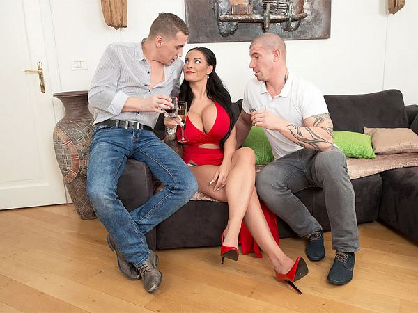 Big Tit Sex Star Gets Two Studs